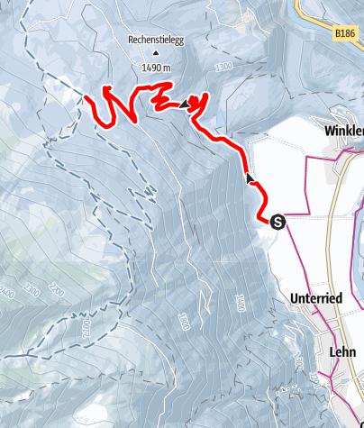 Karte / Rodelbahn Wurzbergalm - Längenfeld