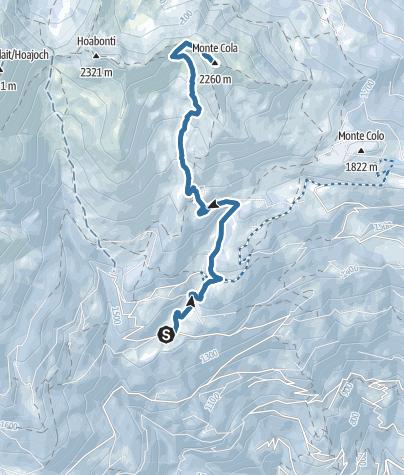 Map / Ciaspolata al Monte Cola