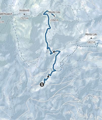 Karte / Schneeschuhwanderung zum Monte Cola