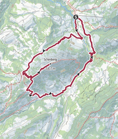 Karte / Rundwanderung Gfellen-Schimbrig