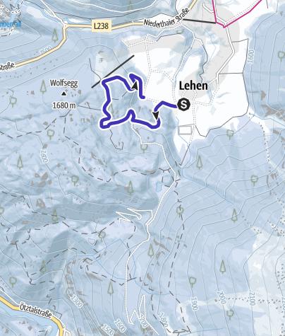Map / Niederthai - Tauferberg toboggan run