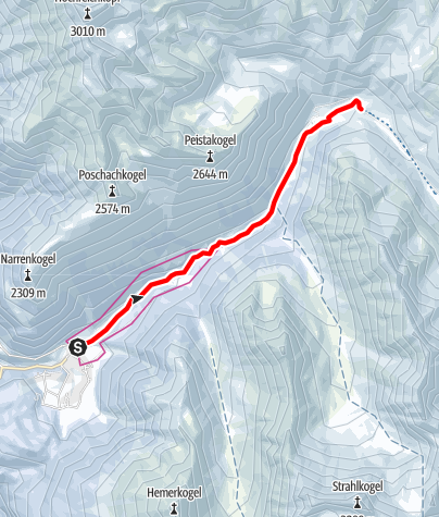 Map / Niederthai - Toboggan run Horlachtal