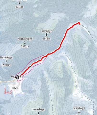 Karte / Niederthai - Rodelbahn Horlachtal