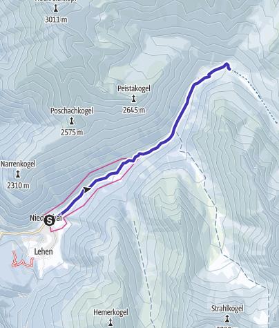 Map / Niederthai - Toboggan run Horlachtal