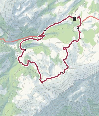 Karte / Salwideli - Arniberg - Tannigsbode - Salwideli