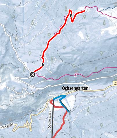 Karte / Ochsengarten - Rodelbahn Feldring Alm - Haiming