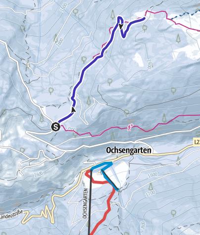 Map / Ochsengarten - Toboggan run Feldringalm - Haiming