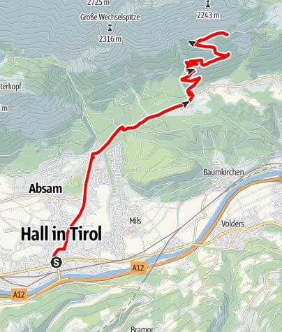 Karte / Hinterhornalm