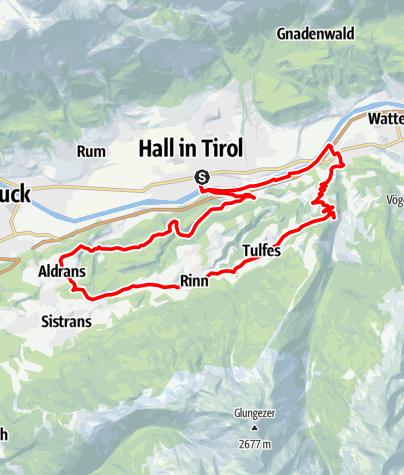 Map / Tulfer Mittelgebirgsrunde