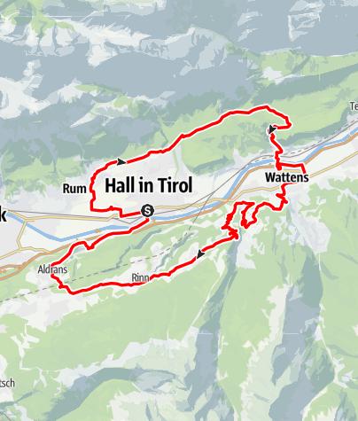 Map / Regionsrunde Hall-Wattens