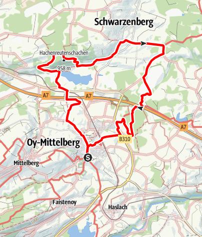 Karte / Zum Schwarzenberger Weiher