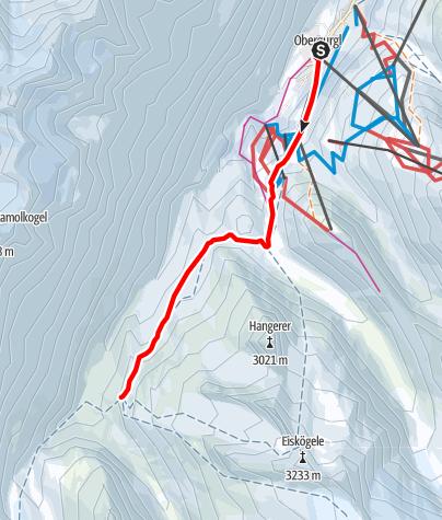 Karte / Von Obergurgl zur Karlsruher Hütte | Langtalereckhütte