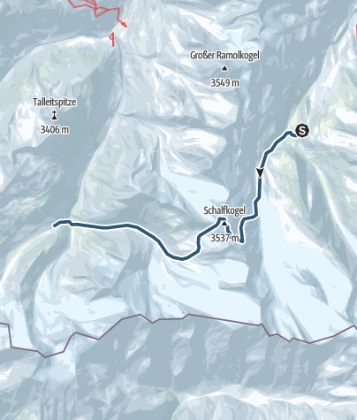 Map / Start of Vent Loop Trail or Ötztal Loop Tour via Schalfkogl