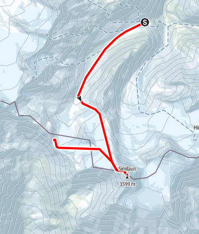 Map / From Martin-Busch-Hütte to Similaun | Similaunhütte