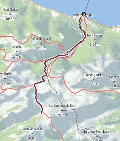 Map / GR®5 Alpes - De Saint-Gingolph aux chalets de Bise (1)