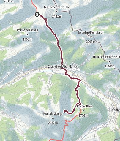 Map / GR®5 Alpes - Des chalets de Bise au refuge de Trébentaz (2)