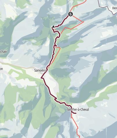 Map / GR®5 Alpes - Du refuge de la Golèse au hameau de Salvagny (5)
