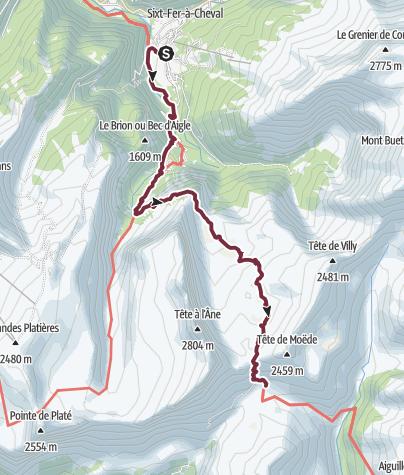 Map / GR®5 Alpes - Du hameau de Salvagny au refuge de Moëde Anterne (6)