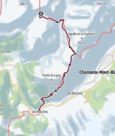 Map / GR®5 Alpes - Du refuge de Moëde Anterne à Chamonix-Les Houches (7)