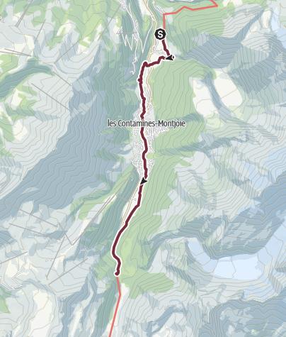 Map / GR®5 Alpes - De Bionnassay au refuge de Nant-Borrant (9)