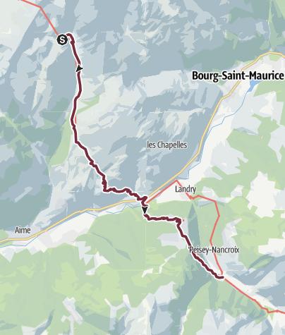 Map / GR®5 Alpes - Du refuge de la Balme à Peisey-Nancroix (12)