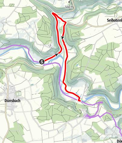 Karte / Kocher-Jagst-Radweg_Umleitung Hessenau - Elpershofen
