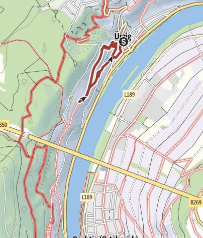 Karte / Themenweg Ürziger Geologie-, Gewürz- & Rosengarten