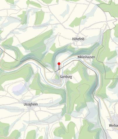 Karte / Bahnhof Gamburg
