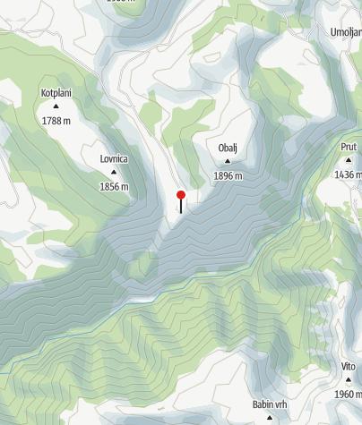 Map / Necropolis in Lukomir - Vlaško groblje