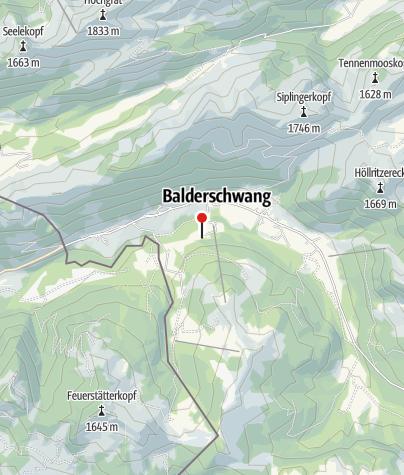 Karte / Höfle Alp - Balderschwang
