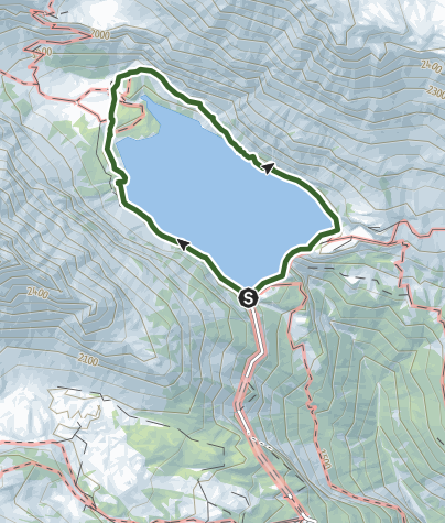 Map / Hike around Tseuzier lake.