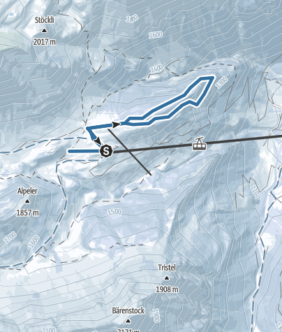 Karte / Schneeschuhtrail 897: Gitschenen, Isenthal