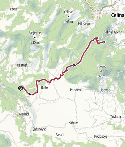 Karte / Švrakava - Ardoline Male