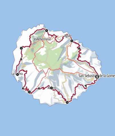 Karte / La Gomera GR-132 gesamt