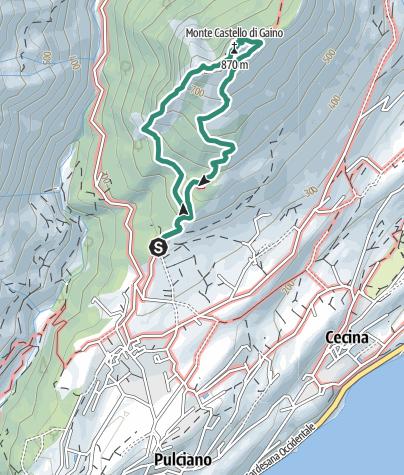 Karte / Monte Castello di Gaino - Südgrat
