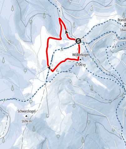 Karte / Schnee(lle) Stubalm-Runde