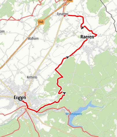 Carte / GR 563: Etappe Eupen - Eynatten