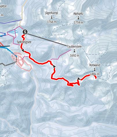 Map / Vom Spitzingsee zum Rotwandhaus am Fuße des Rotwand Gipfels