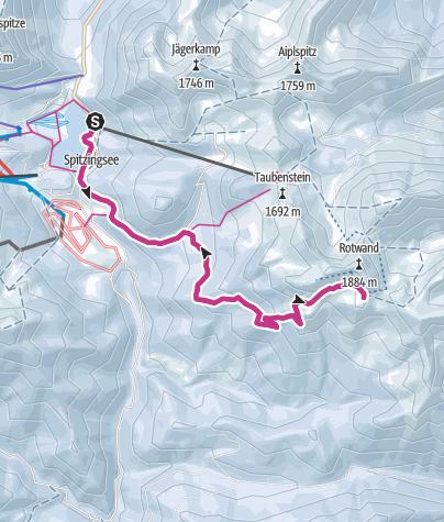 Karte / Vom Spitzingsee zum Rotwandhaus am Fuße des Rotwand Gipfels