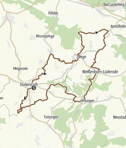 Karte / Grenzerfahrungen auf der Kolonne