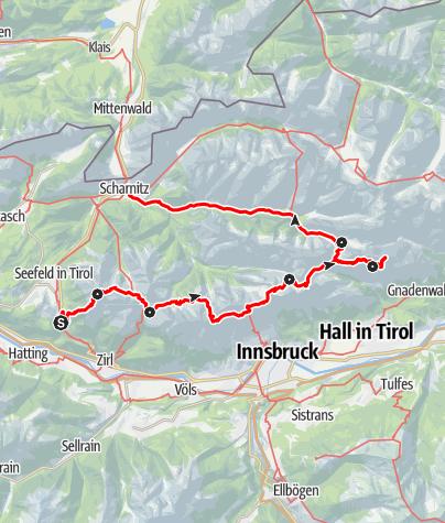 Map / Karwendel Höhenweg