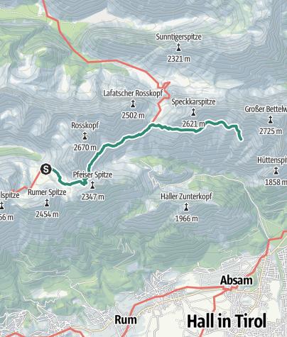 Mapa / Karwendel Höhenweg - Etappe 4