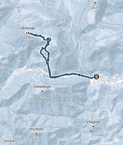 Karte / Bichleralpe (1378m)
