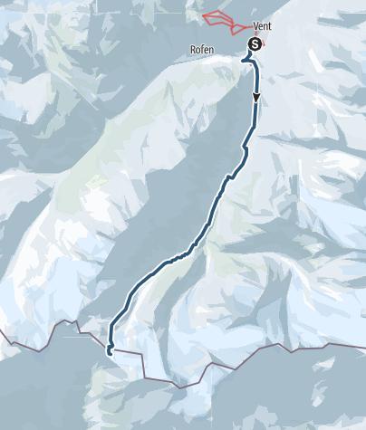 Map / Similaun Skitour