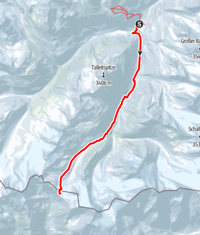 Map / Similaun Skitour