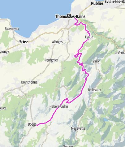 地图 / P'tites Routes Du Soleil - Les balcons du Léman à vélo (A1)