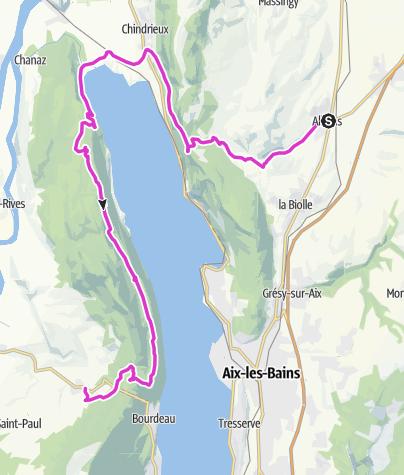 Map / P'tites Routes Du Soleil - Le tour du lac du Bourget (A5)
