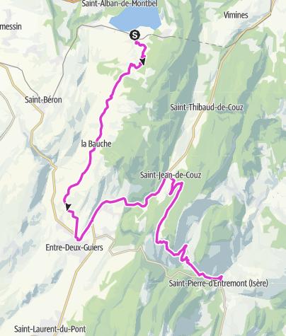 Map / P'tites Routes Du Soleil - Les contreforts de la Chartreuse (A7)