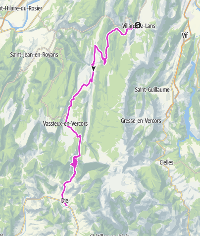 地图 / P'tites Routes Du Soleil - La traversée du Vercors à vélo (A10)