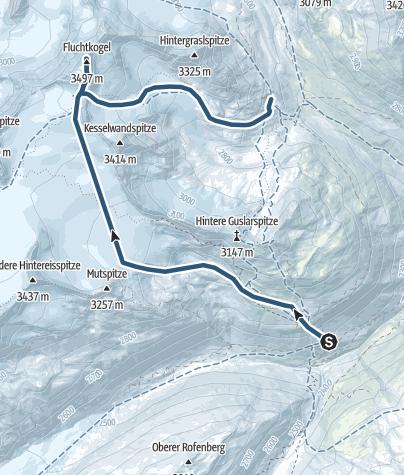 Map / From Fluchtkogel to Vernagthütte